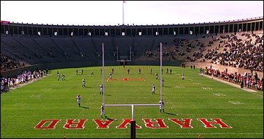 Despite various facelifts, Harvard Stadium retains much of its orginal design. (Globe Staff Photo / John Tlumacki)